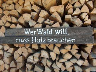 Wer Wald will - muss Holz brauchen